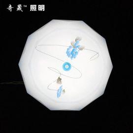 厂家直销 350菱圆吸顶灯 led 吸顶灯 圆形客厅天花卧室灯具灯饰