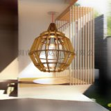 新中式餐廳吊燈簡約木藝吊燈創意時尚客廳飯廳臥室書房燈具