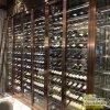 佛山不锈钢恒温酒柜定制 酒店落地红酒展示柜 会所不锈钢酒架厂家