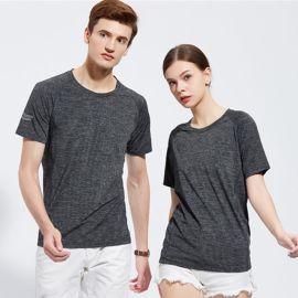陽離子冰蠶絲  速幹圓領T恤戶外運動休閒娛樂健身房可定制LOGO