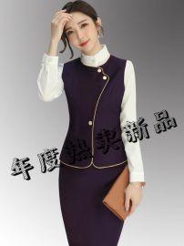 姐制服职业装女新款服务员工装长袖美容师工作服餐饮前台套装秋