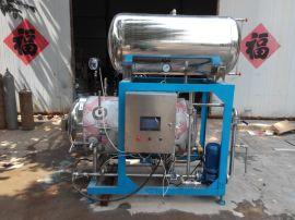 供应强大腊肉杀菌锅/半自动热水喷淋式电汽两用杀菌锅灭菌锅