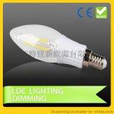 拉尾燈 led燈絲燈 復古鎢絲燈 燈頭E12 E14 磨砂調光2W 3W 4W