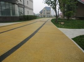 永州透水混凝土彩色路面 高强透水地坪