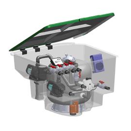 意万仕地埋一体机 泳池整体过滤设备无机房