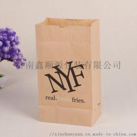 通用纸袋子 淋膜纸袋 栗子袋 方底淋膜纸袋厂家