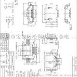 方口AB型貼片MICRO USB母座5P-AB型貼片直邊SMT全貼有柱 腳寬8.8