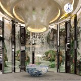 家居室内电视背景墙拼接壁画_室外陶瓷大型壁画价格