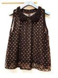 珠子亮片圓領娃娃衫紗網外穿無袖小背心