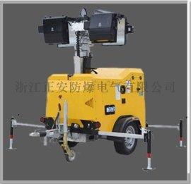 SFW6105拖拉式全方位移动照明灯塔全方位移动照明工作灯柴油发电机9米液压灯杆