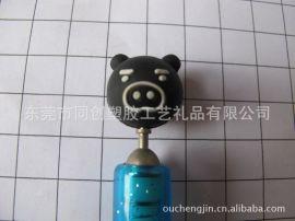厂家供应PVC软胶笔套 卡通铅笔笔套 东莞厂家批发订做