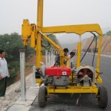新型,高效,自行式的小型四輪打樁機 小型護欄打樁機