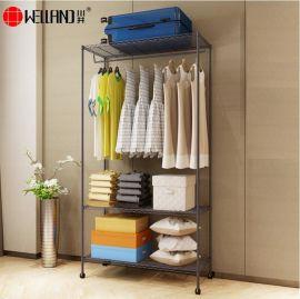 简易衣柜钢架牛津布加粗加固双人简约现代经济型收纳折叠组合衣柜