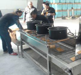 自动食品机 油条机 肉条油炸机