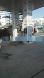 广西南宁加油站包柱铝型材-南宁加油站立柱铝单板-铝圆角