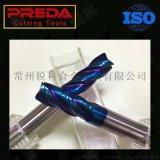 HRC65 藍色NANO 塗層4刃硬質合金立銑刀