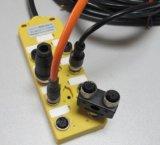 非标自动化M12总线执行器,IO多接口分线盒