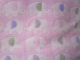 粉色大象双面珊瑚绒