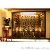金世强欧式不锈钢酒柜,福建钛金不锈钢红酒柜