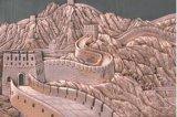 北京铜浮雕厂家定制紫铜长城浮雕壁画