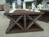 仿木護欄模具廠家 河道仿木欄杆模具 仿木花箱