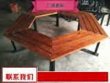 公共实木座椅厂家销售 实木长条座椅组合批发