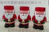 聖誕玻璃裝飾品,聖誕蠟燭LED玻璃工藝品