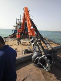 新型液压潜水泥浆泵-挖机砂浆泵-高扬程液压抽沙泵