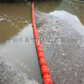 固体浮式拦污排1米拦污塑料桶厂家
