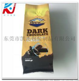 定制铝箔咖啡袋 咖啡粉带排气阀包装袋 一磅咖啡豆袋