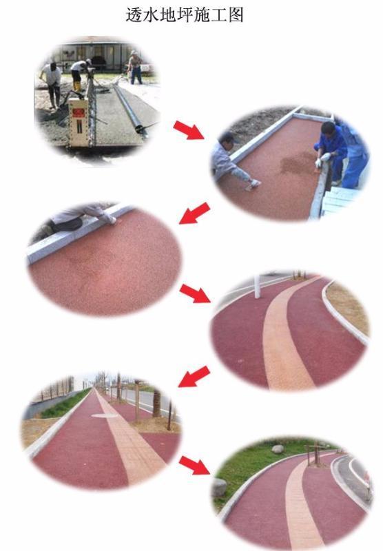 彩色透水混凝土地坪施工工艺简单流程