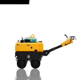 人力转向电磁离合振动760kgRWYL33S手扶压路机美国轻载型变量柱塞泵美国摆线液压马达驱动变速行走价格可议