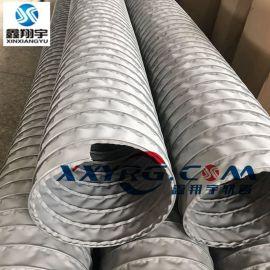 汽车尾气排放软管,耐高温排气管,玻璃纤维涂层布夹式伸缩风管