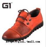 G12013夏季新款男士日常休閒鞋打孔透氣男鞋懶人鞋優質牛皮正品