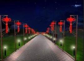 LED中国结灯,路灯杆美化亮化灯,挂路灯杆装饰灯