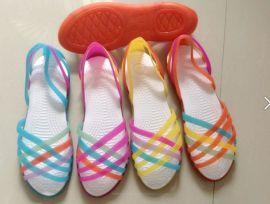 洞洞鞋女凉鞋 沙滩鞋鸟巢鞋凉鞋塑料水晶果冻鞋 夏季新款 女鞋