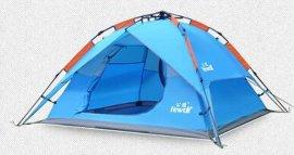 公狼户外3-4人全自动帐篷 双人双层野外露营装备沙滩野营帐篷