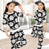 童裝2015秋款女童中小童時尚韓版印花套裝