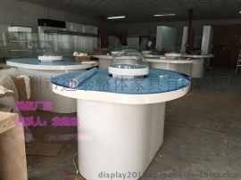 自动升降展台/展示柜定制、半圆亚克力罩磁悬浮高科技展柜厂家
