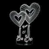 台灯卧室床头灯3D立体手指LED夜灯学习创意时尚宜家结婚生日礼物