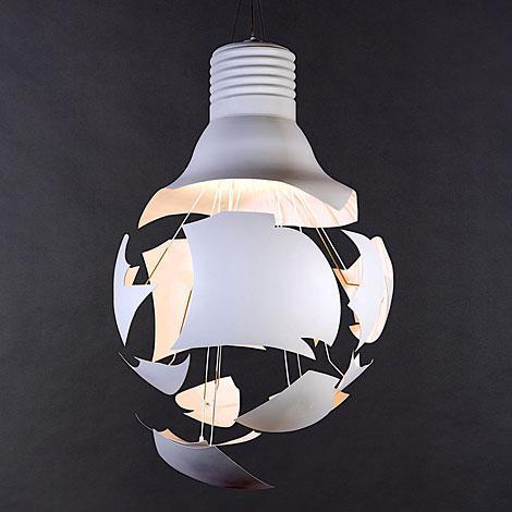 Scheisse Ceiling Lamp設計師吊燈破碎瞬間的燈泡吊燈創意個性燈泡吊燈