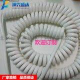 供应北京坤兴盛达电器设备用螺旋拉伸曲线 大电流PU弹簧电缆线2芯-4芯弹弓电线