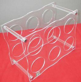 红酒展示架 亚克力高档红酒展示架 深圳有机玻璃制品 亚克力制品