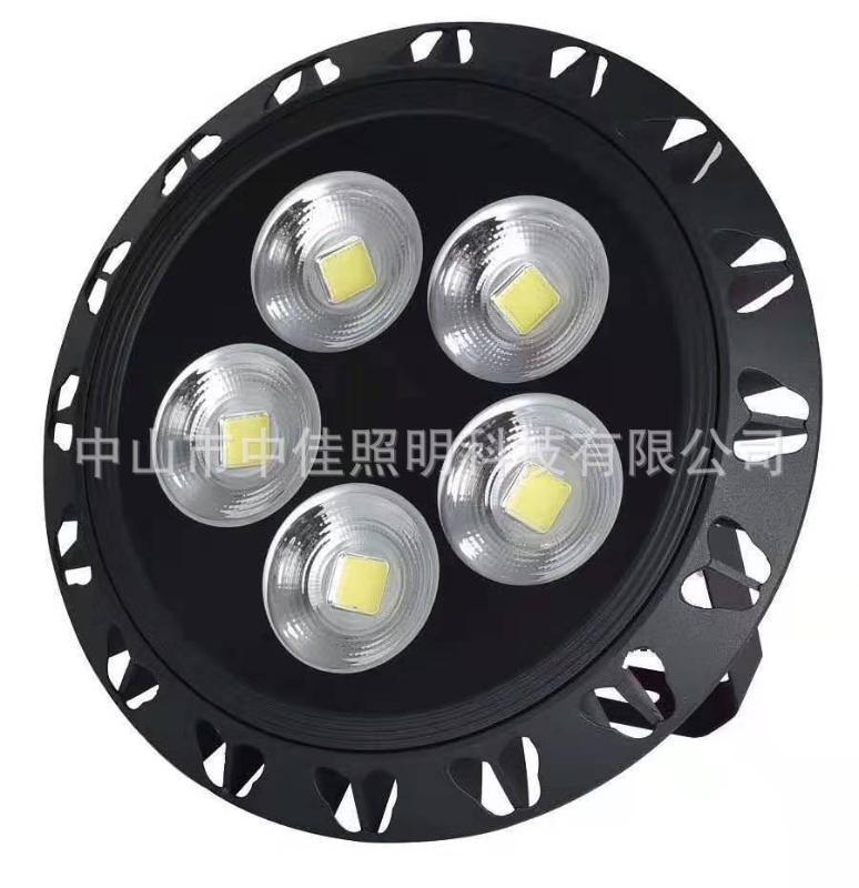 廠家批發led投光燈外殼 圓形集成壓鑄投光燈 聚光反光杯外殼套件
