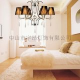 歐式現代鐵藝水晶吊燈客廳餐廳臥室吊燈6619