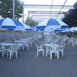 出租折叠太阳伞沙滩伞圆形相拼大伞租赁