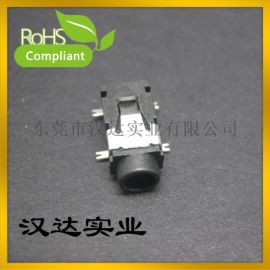 3.5 SMT 贴片耳机插座、 PJ-321A音频母座接口 4脚贴片双声道