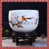 景德镇陶瓷金鱼缸 乌龟瓷缸 碗莲睡莲家居聚宝盆