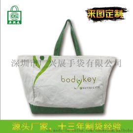 定製帆布手提購物袋環保彩印全棉帆布袋
