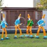 以音樂作爲提材玻璃鋼音樂演奏人物雕塑